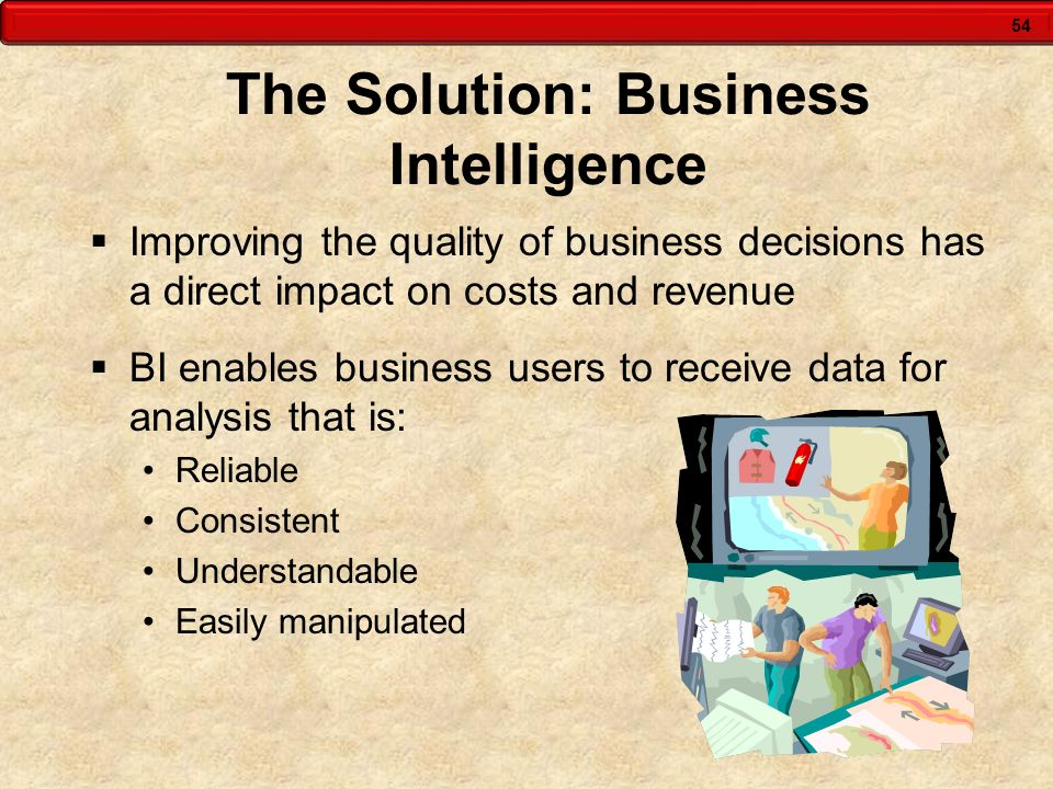 The Solution: Business Intelligence