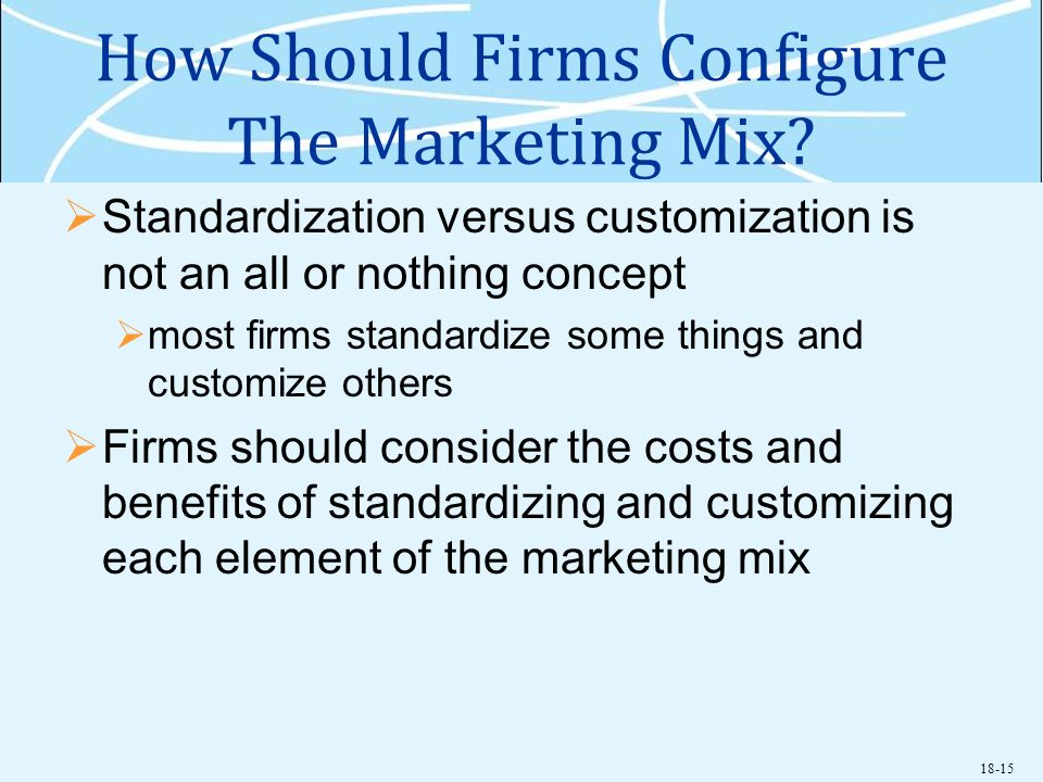 How Should Firms Configure The Marketing Mix