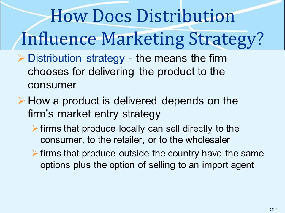 How Does Distribution Influence Marketing Strategy