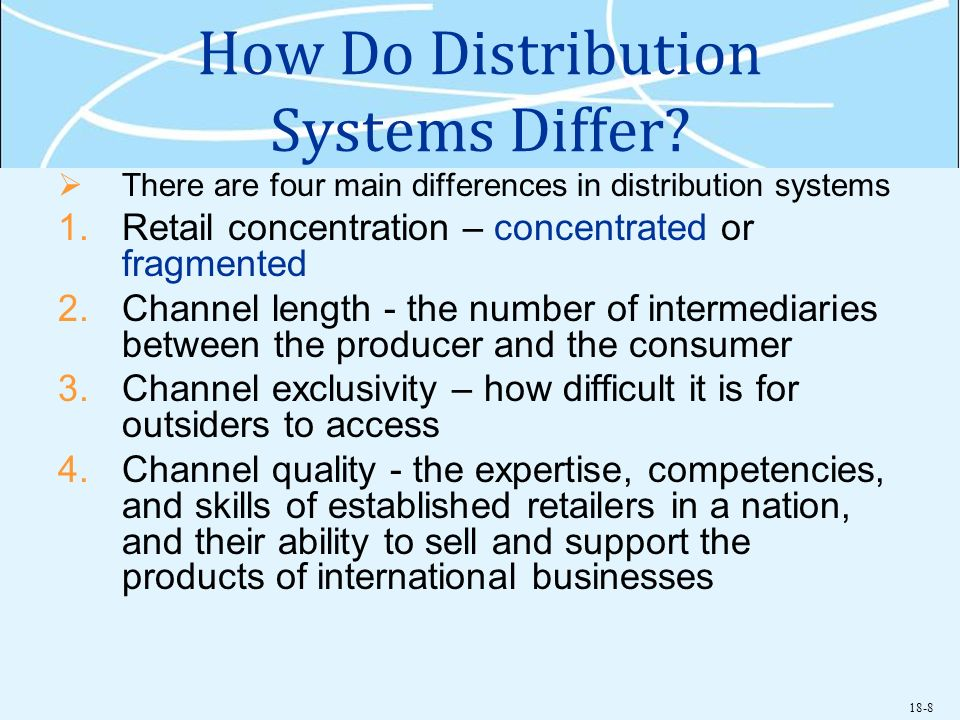 How Do Distribution Systems Differ