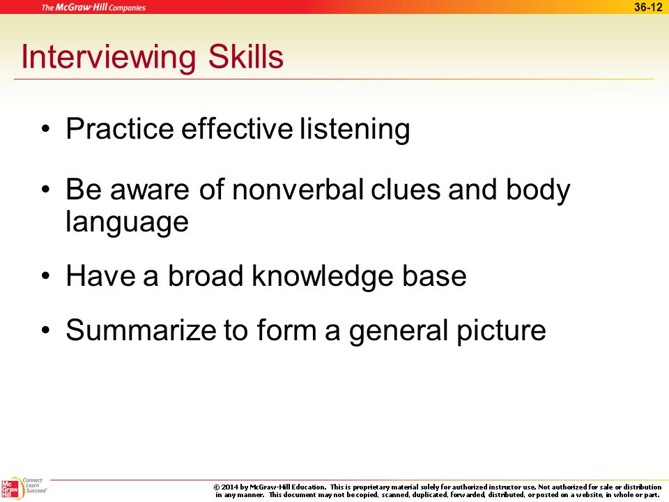 Interviewing Skills Practice effective listening