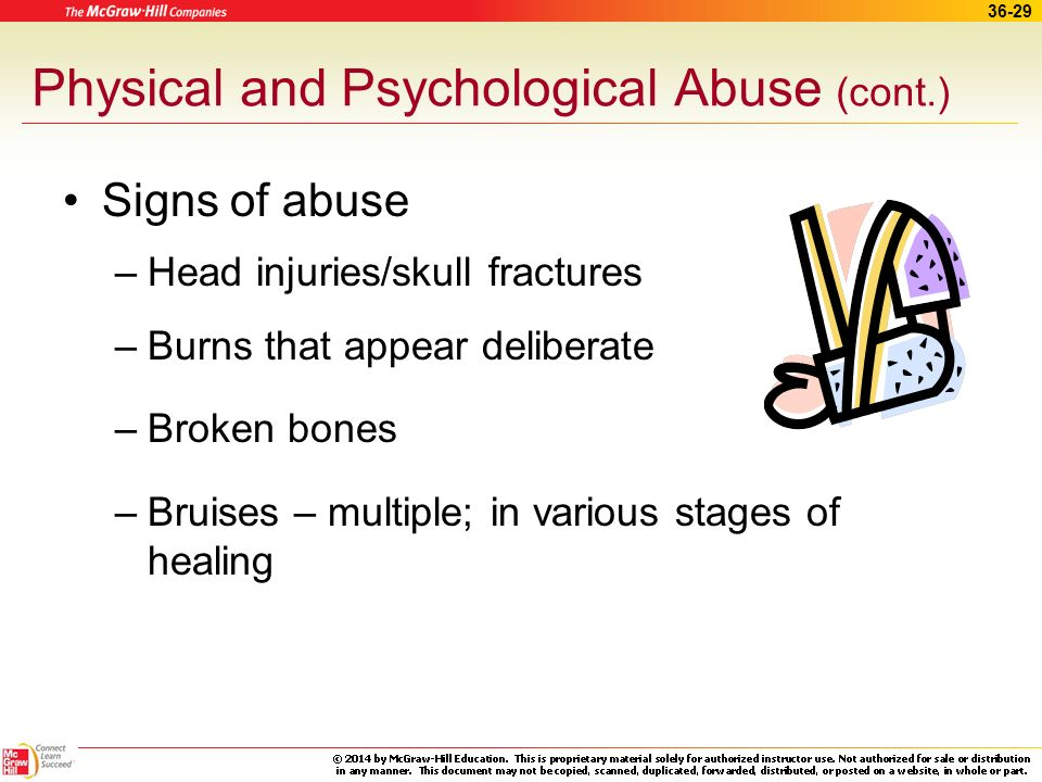 Physical and Psychological Abuse (cont.)