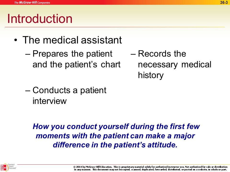 Introduction The medical assistant