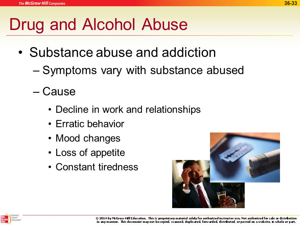 Drug and Alcohol Abuse Substance abuse and addiction