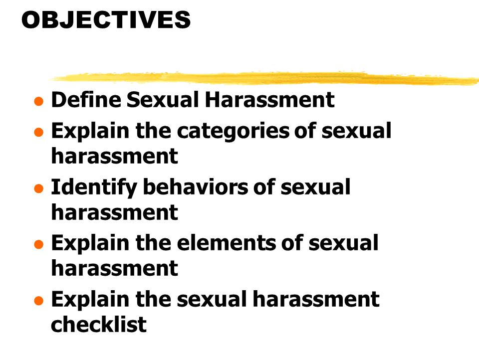 2 categories of sexual harassment
