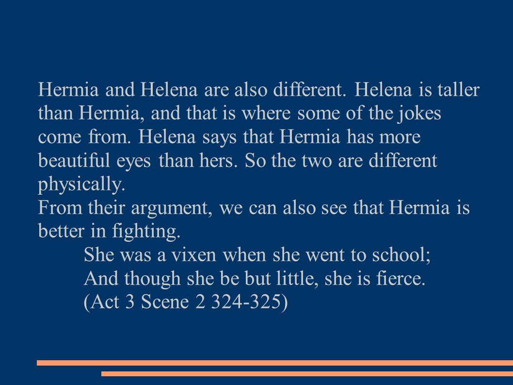 similarities between hermia and helena