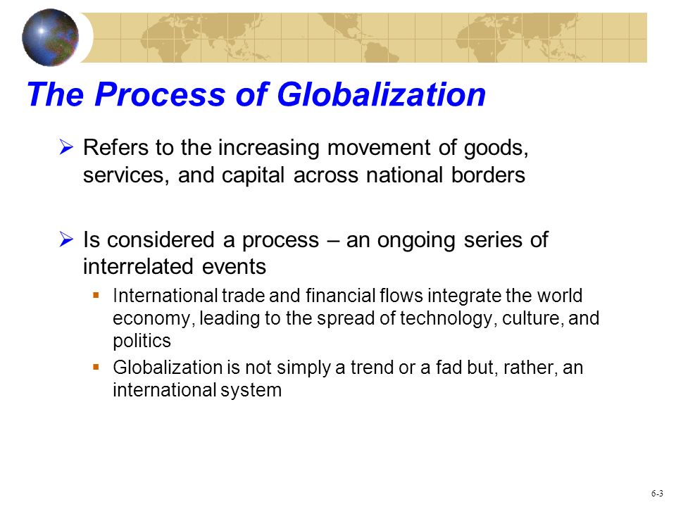 what is the process of globalisation