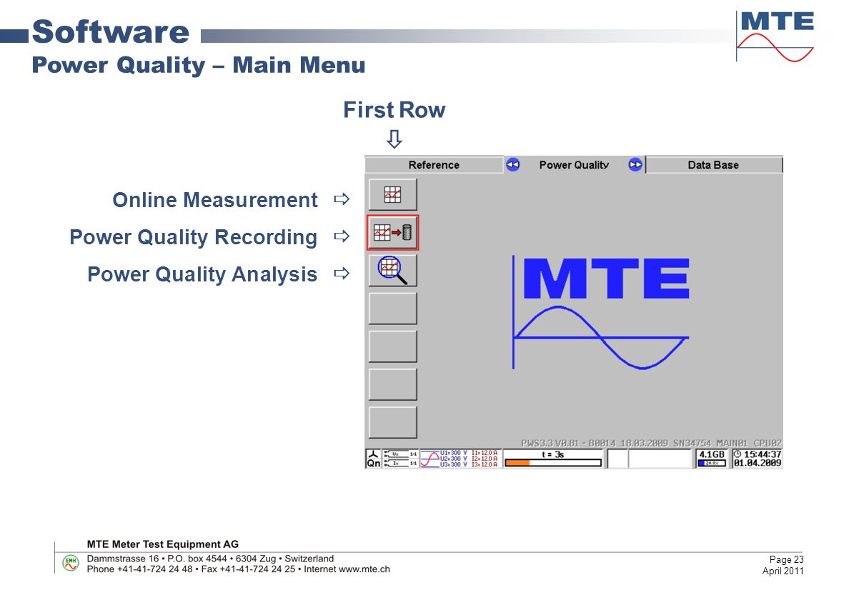 Portable Working Standard and Power Quality Analyzer - ppt video ...