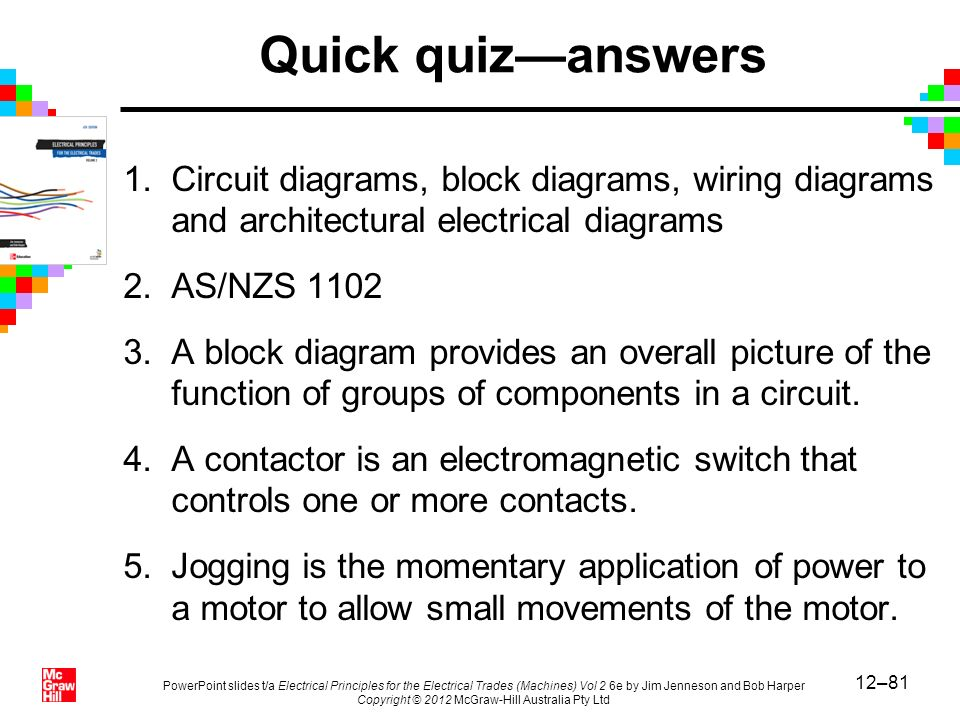 Chapter 12 electrical drawing practices ppt video online download quick quizanswers circuit diagrams block diagrams wiring diagrams and architectural electrical diagrams ccuart Gallery