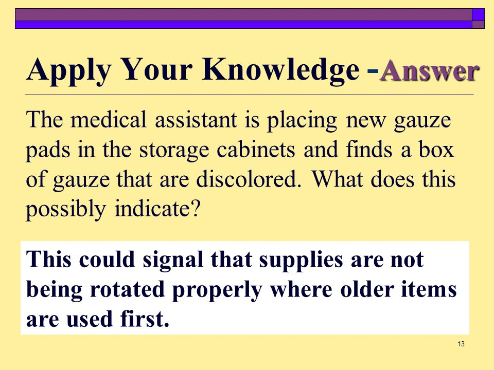 Apply Your Knowledge -Answer
