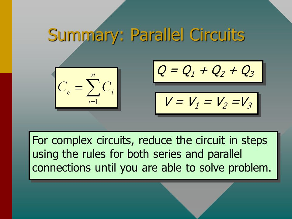 Summary: Parallel Circuits