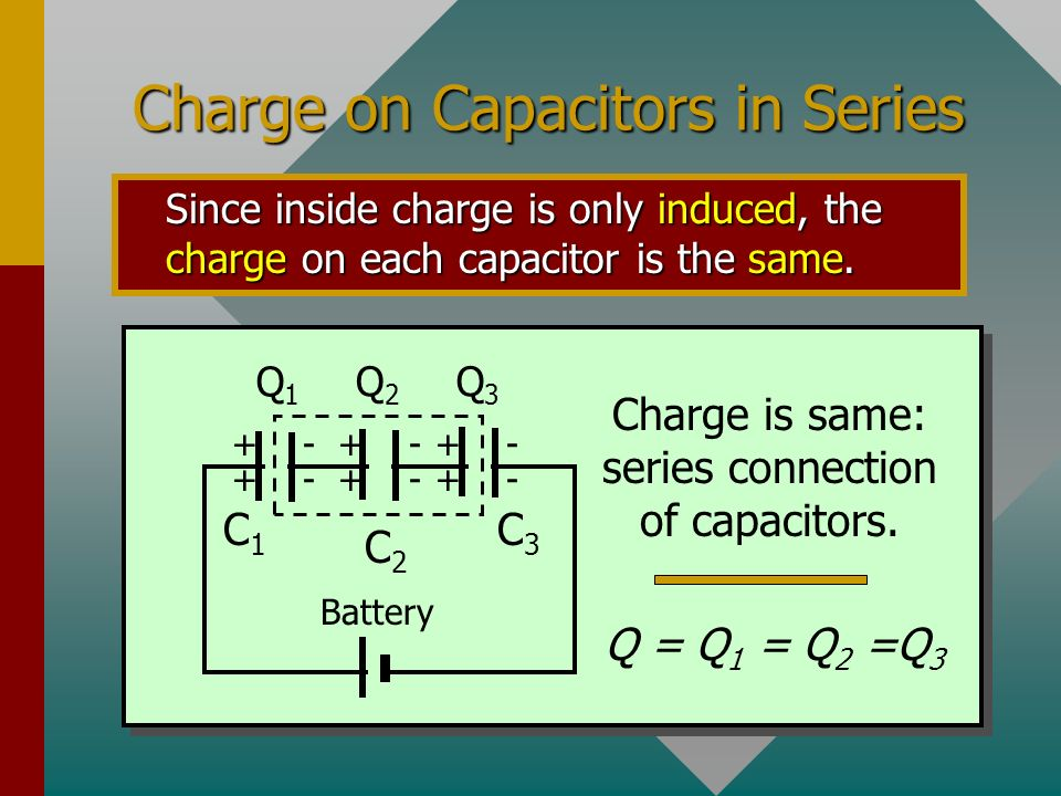 Charge on Capacitors in Series