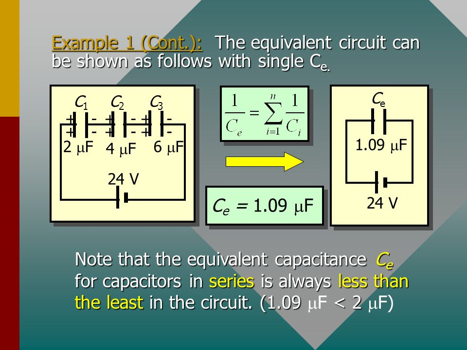 Example 1 (Cont.): The equivalent circuit can be shown as follows with single Ce.