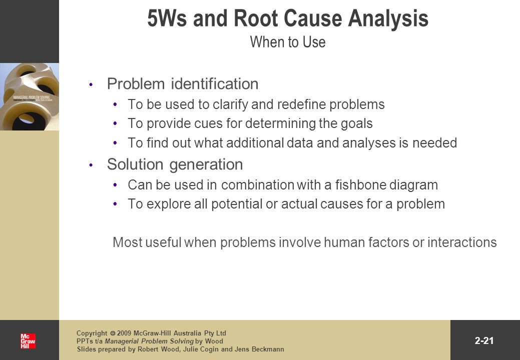 5Ws and Root Cause Analysis When to Use