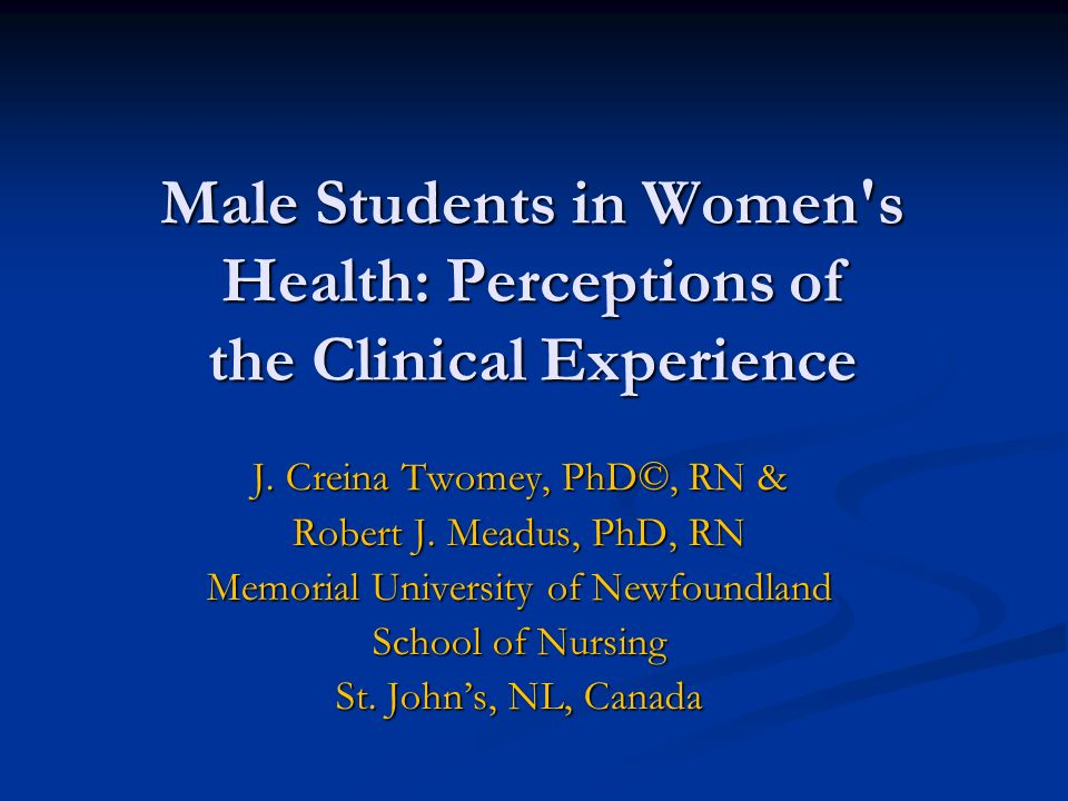 Male Students in Women s Health: Perceptions of the Clinical Experience