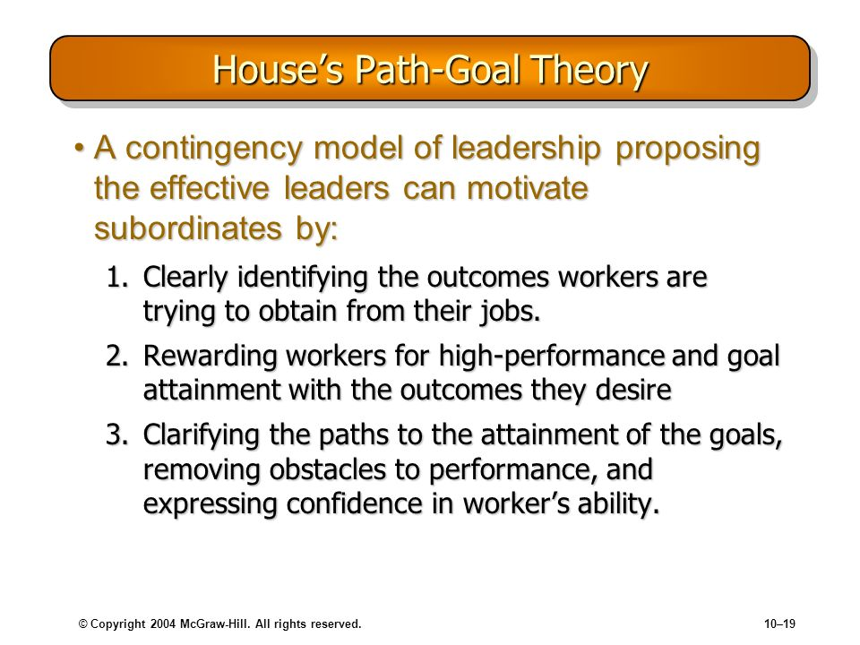 House's Path-Goal Theory