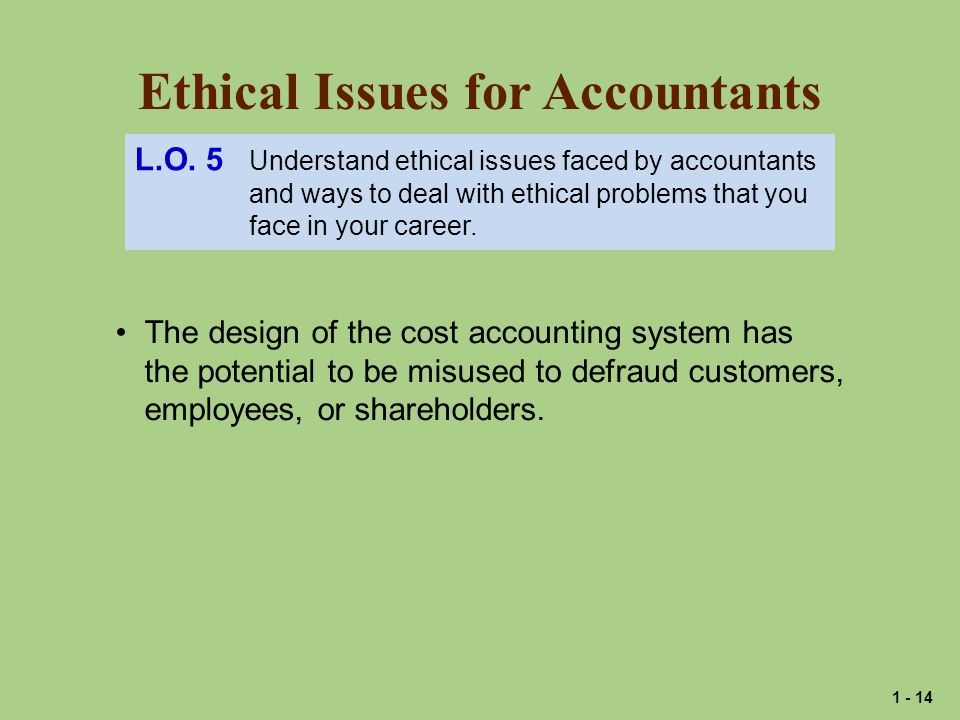 Ethical Issues for Accountants
