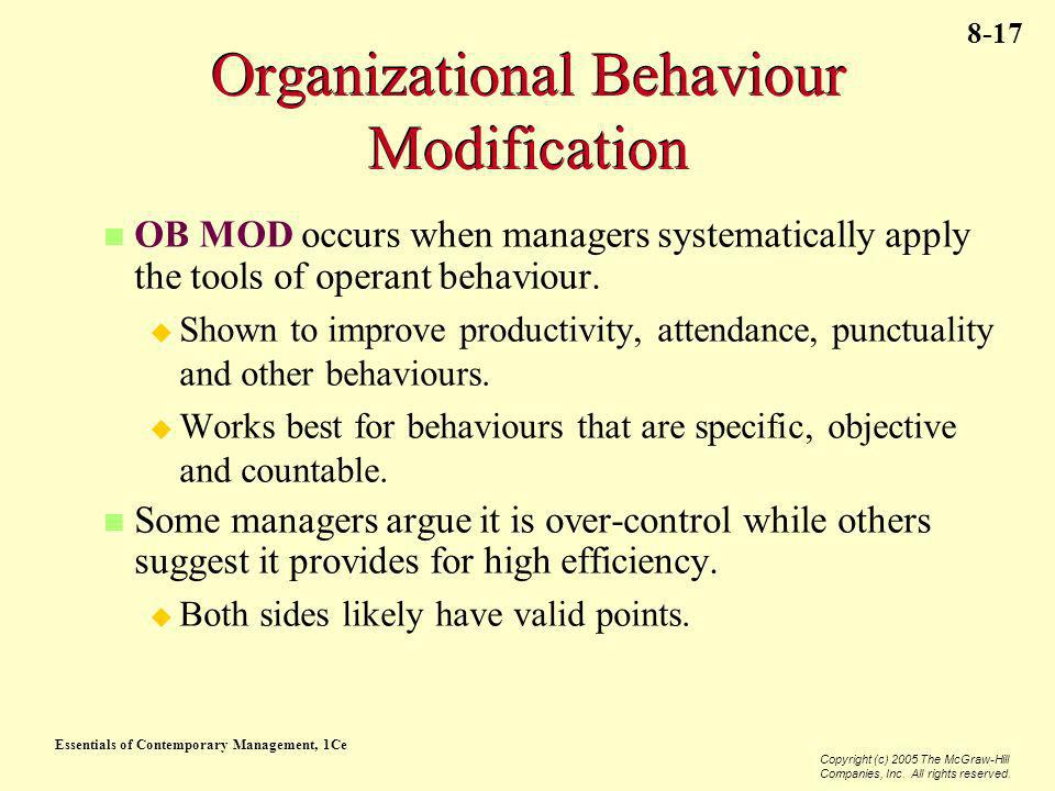 Organizational Behaviour Modification