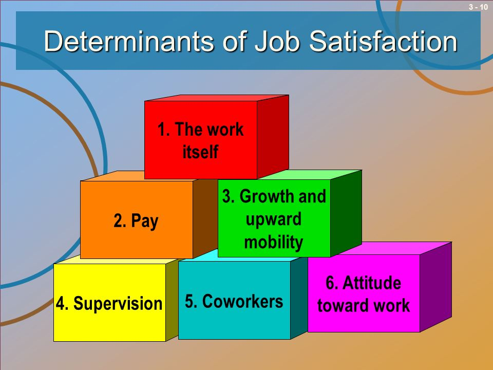 Determinants of Job Satisfaction