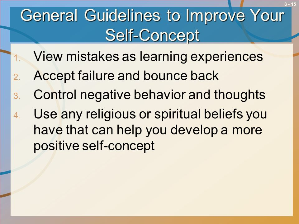 General Guidelines to Improve Your Self-Concept