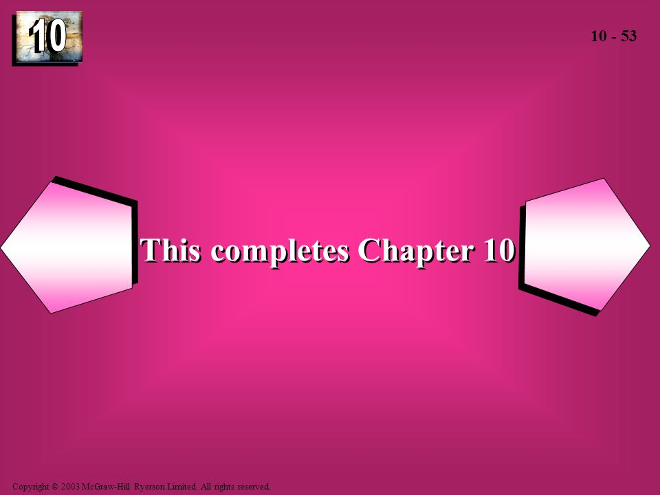 This completes Chapter 10