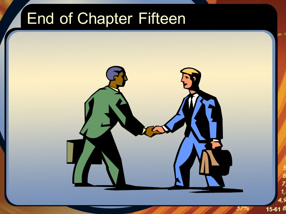 End of Chapter Fifteen