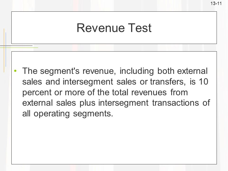 Revenue Test