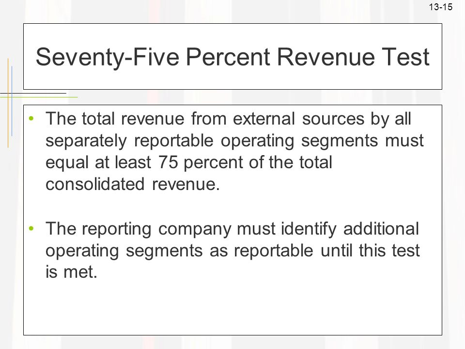 Seventy-Five Percent Revenue Test
