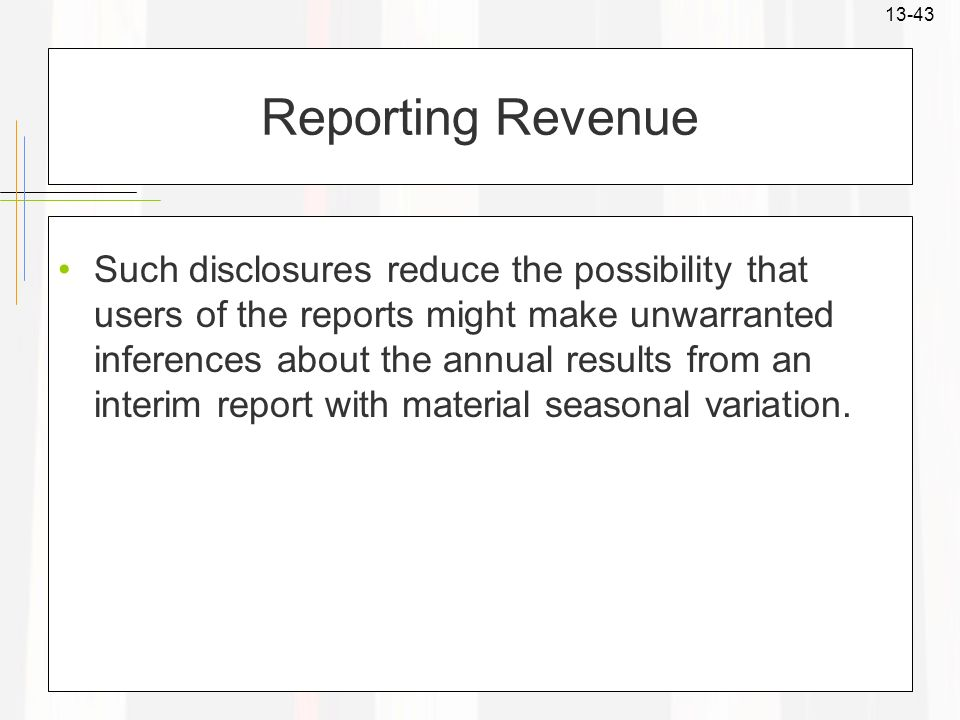 Reporting Revenue