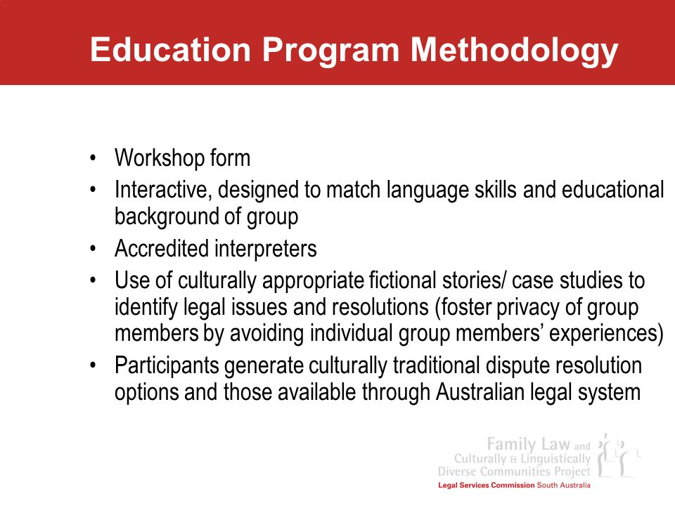 Education Program Methodology