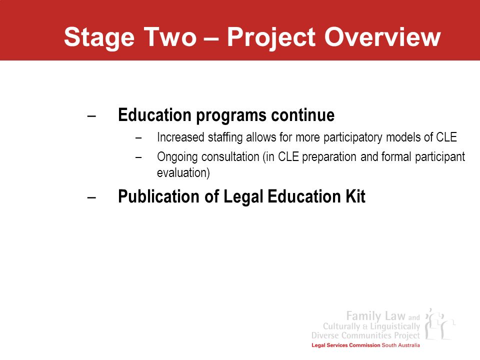 Stage Two – Project Overview
