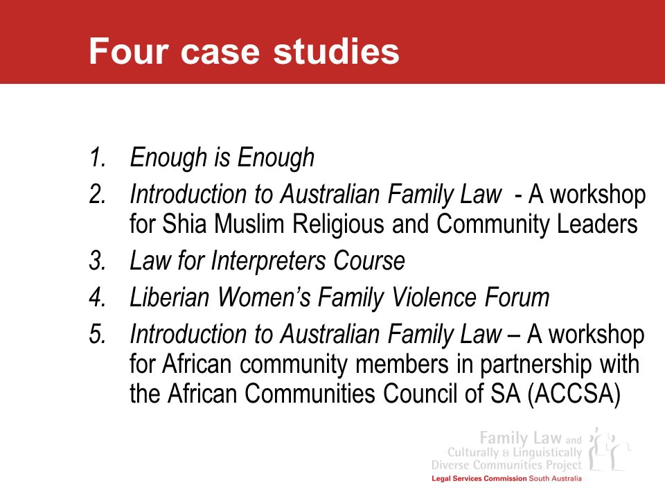 Four case studies Enough is Enough