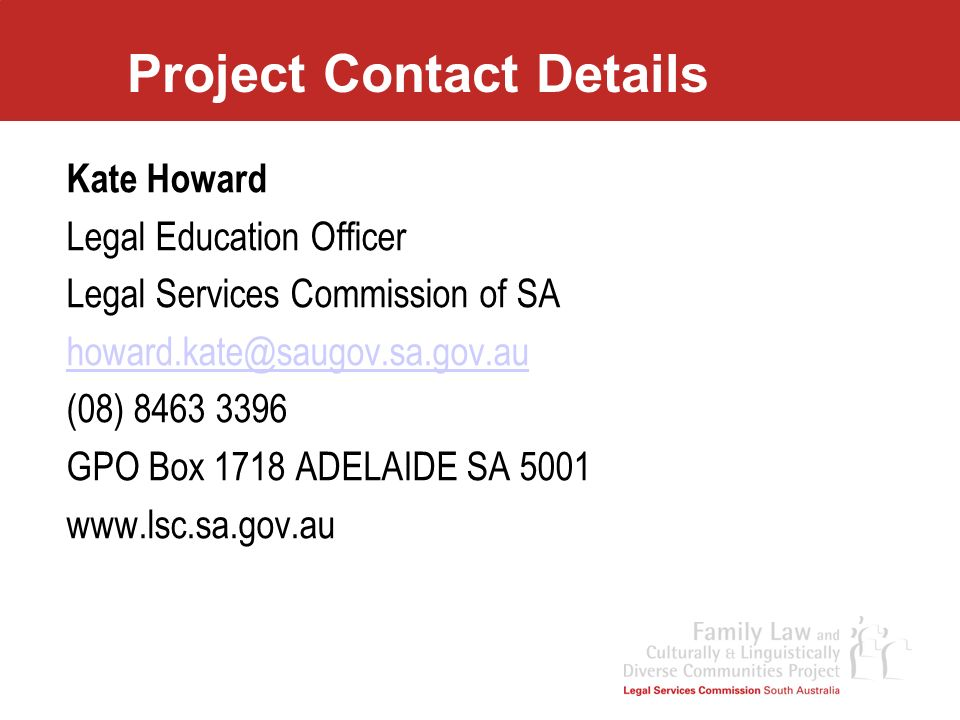 Project Contact Details