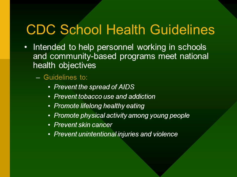 CDC School Health Guidelines