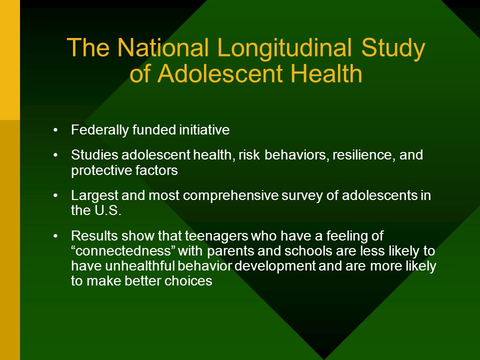 The National Longitudinal Study of Adolescent Health