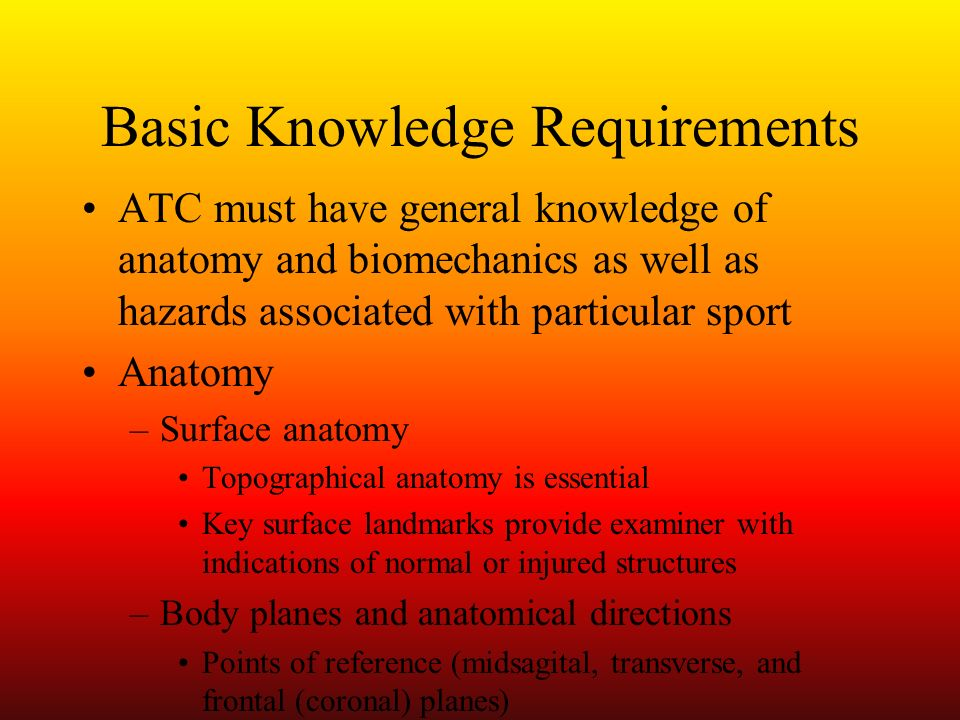 Basic Knowledge Requirements