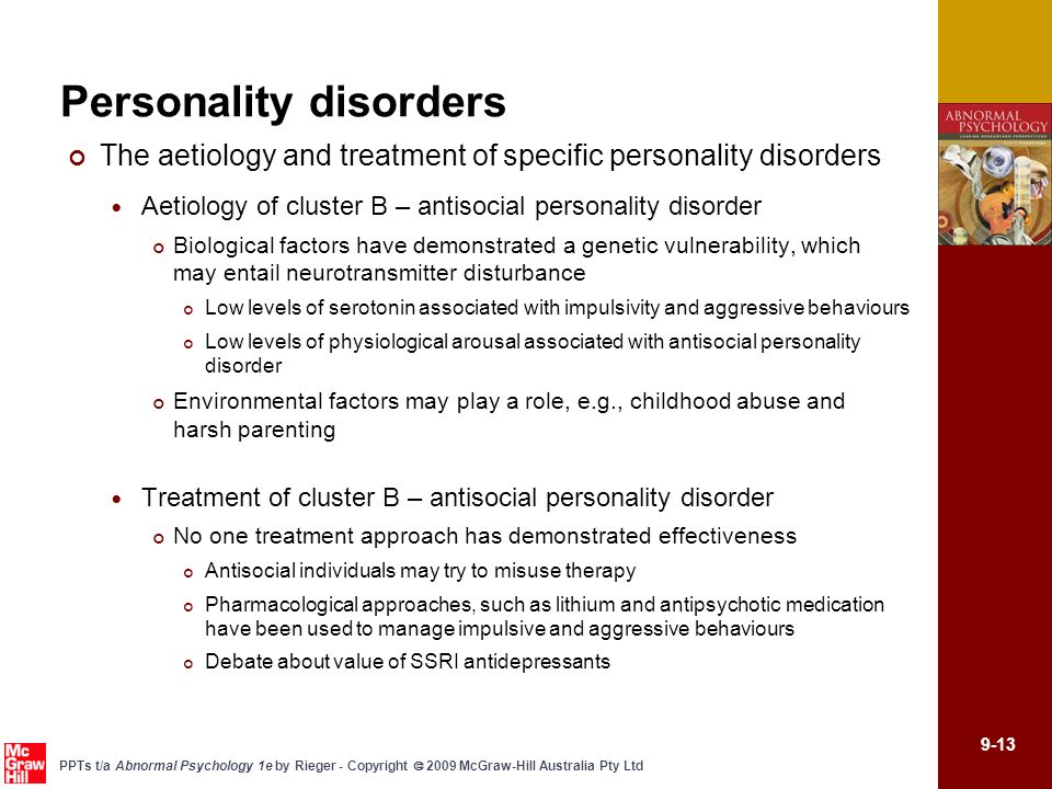 CHAPTER 9 PERSONALITY DISORDERS - ppt video online download