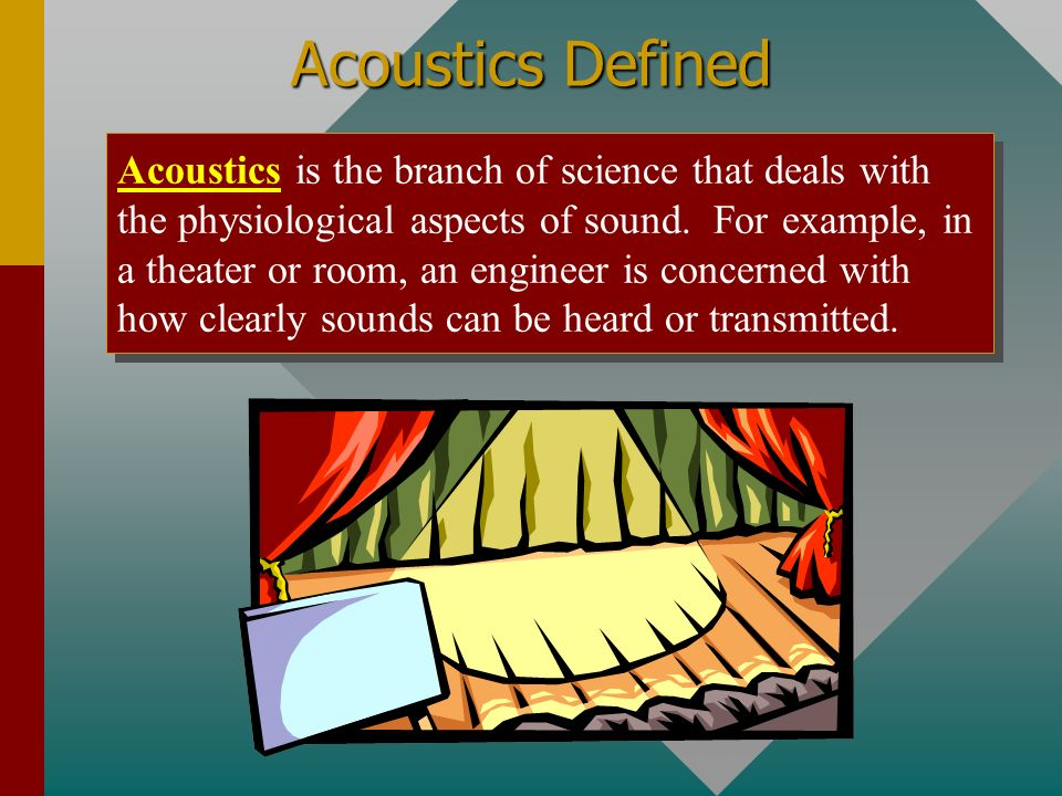 Acoustics Defined