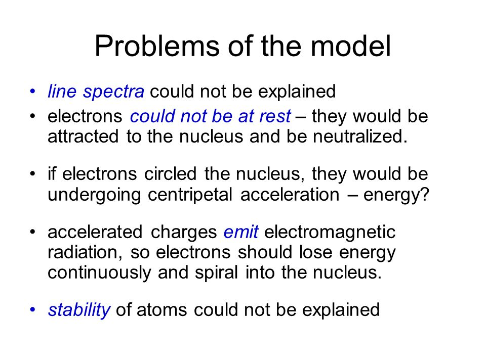 Problems of the model line spectra could not be explained