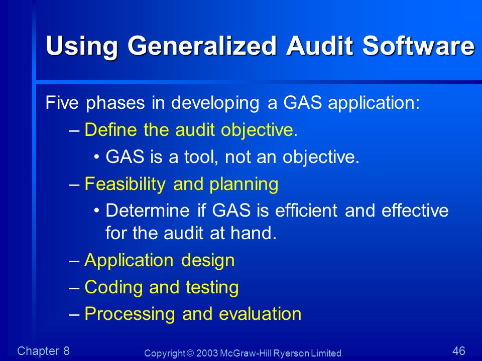 Using Generalized Audit Software