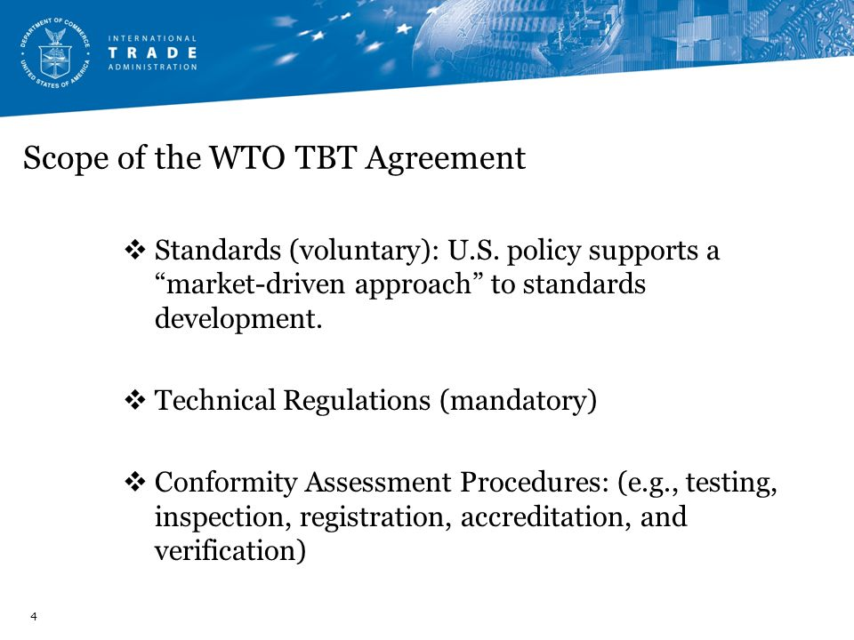 Scope of the WTO TBT Agreement