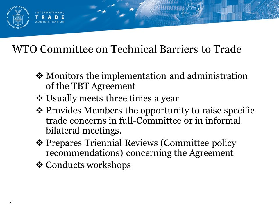 WTO Committee on Technical Barriers to Trade