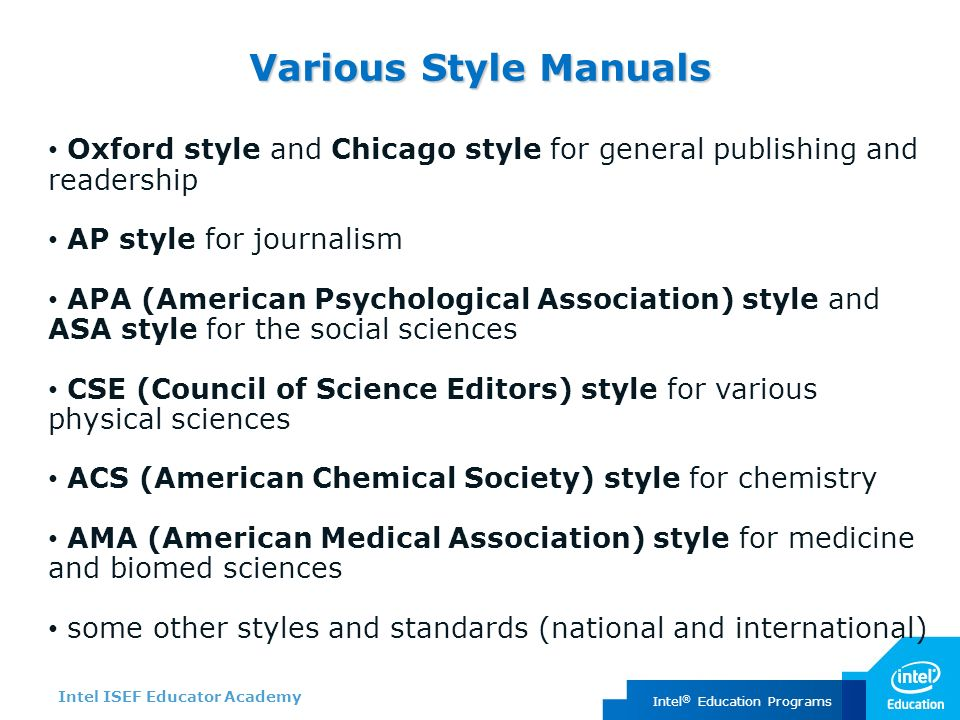 council of science editors style