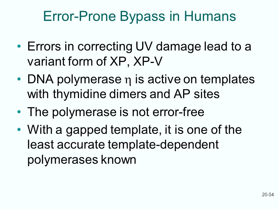 Error-Prone Bypass in Humans
