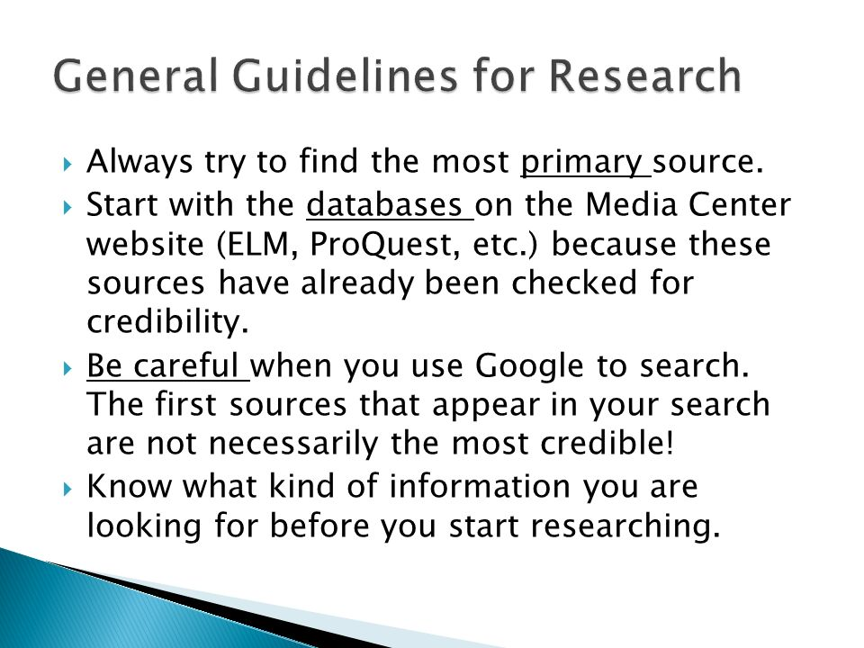 how to find credible sources for research