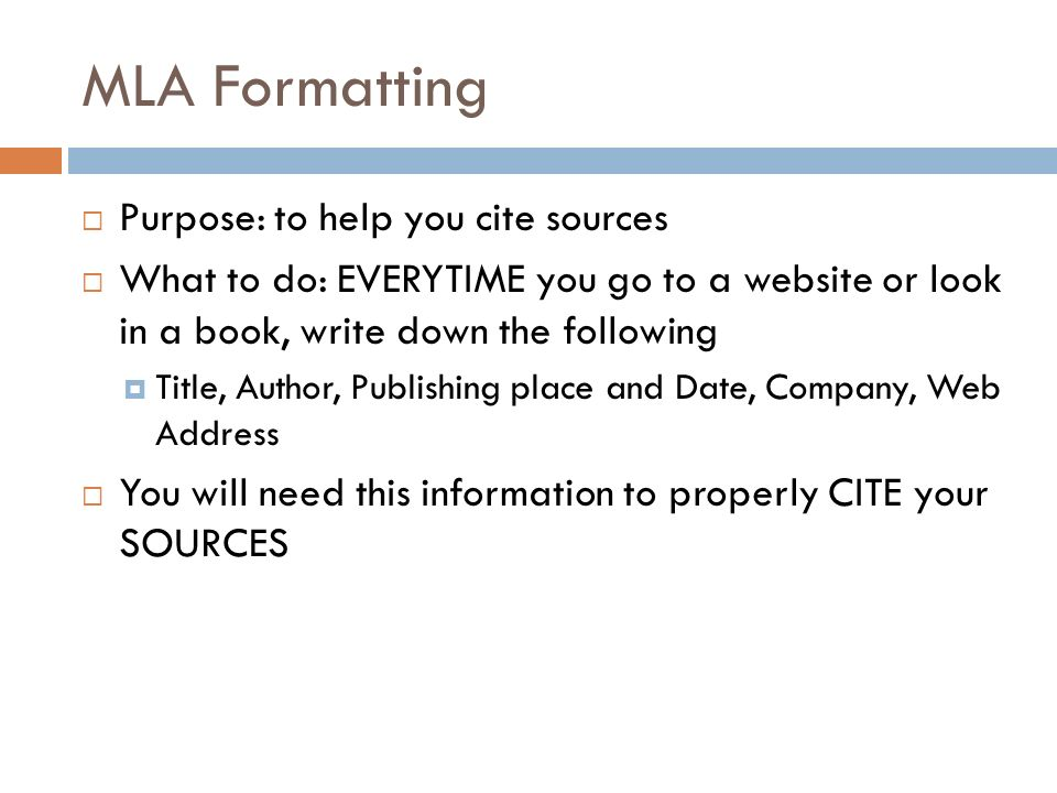 Research And MLA Formatting Ppt Video Online Download