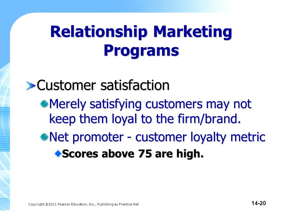 relationship marketing and customer loyalty in a retail setting