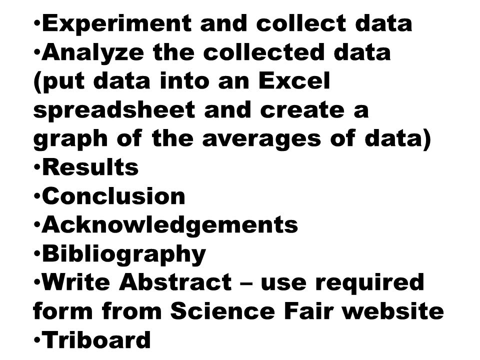 how to write a science fair project