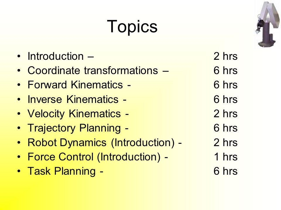 Introduction To Robotics Ppt