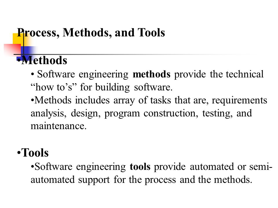 Chapter 2 The Process Process Methods And Tools Ppt Video Online Download
